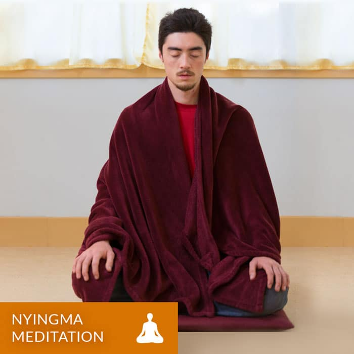 Image of a student Meditating.