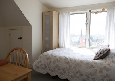 Image of a bedroom overlooking Berkeley
