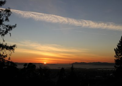 Image of the Sunset with Golden Gate bridge in the distance