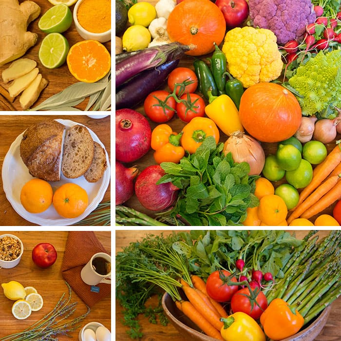 Image of fruits and veggies.