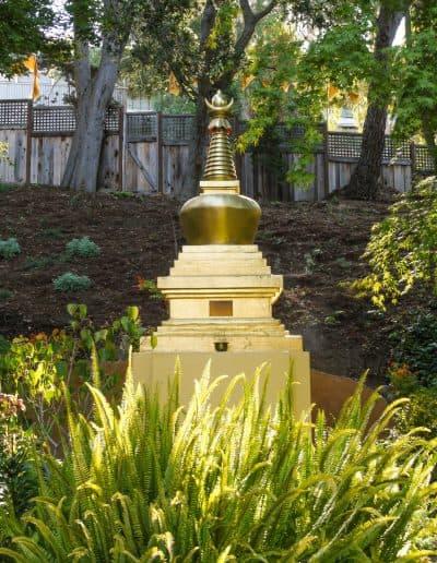 Stupa in the meditation garden